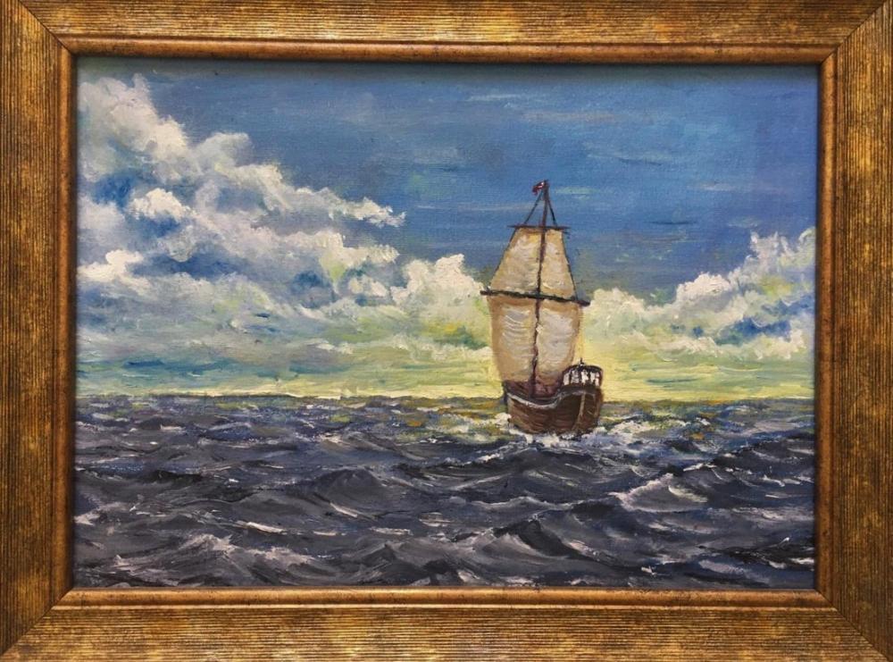 Lonely Ship, Reproduction Paintings, , kanvas tablo, canvas print sales