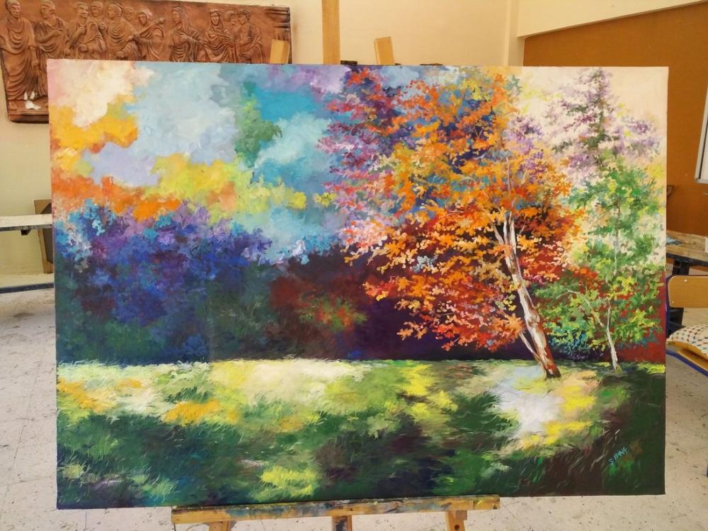 Landscape 6, Original Paintings, , kanvas tablo, canvas print sales