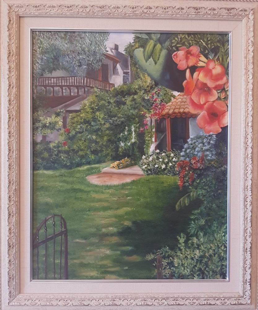 A Garden in Datça, Original Paintings, , kanvas tablo, canvas print sales