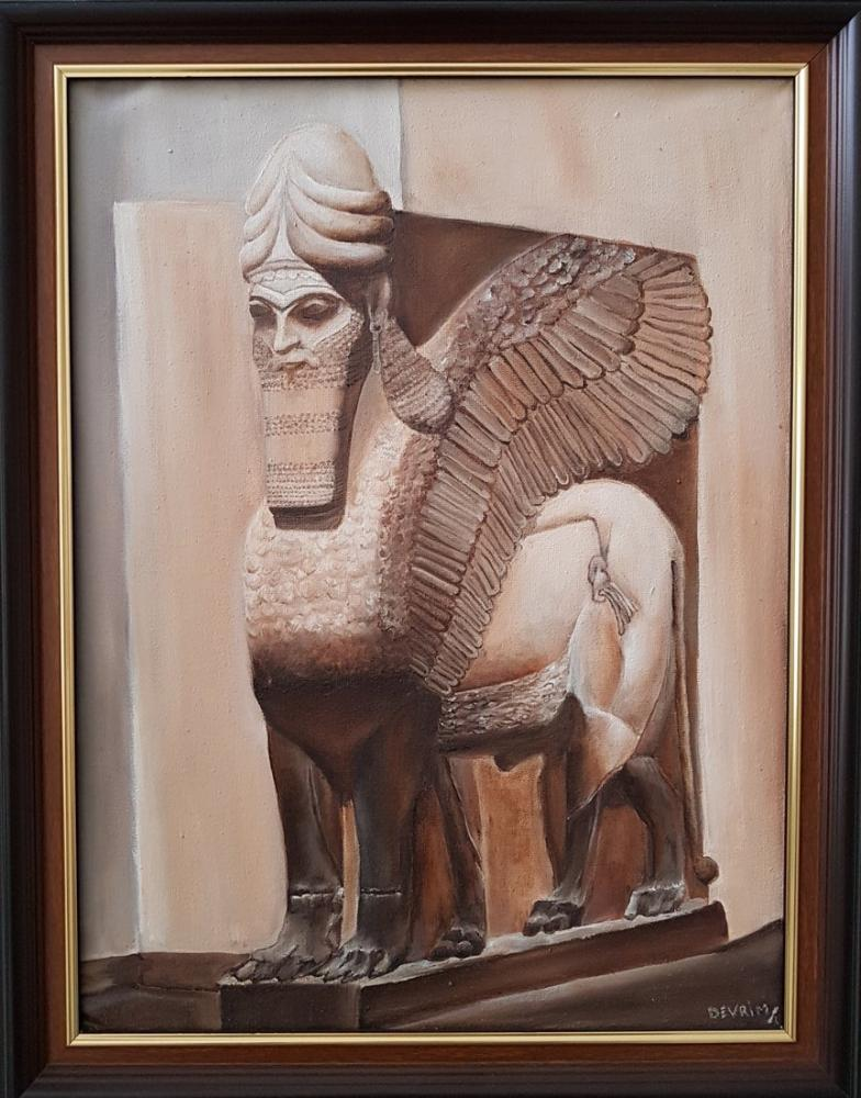 Lamassu, Original Paintings, , kanvas tablo, canvas print sales
