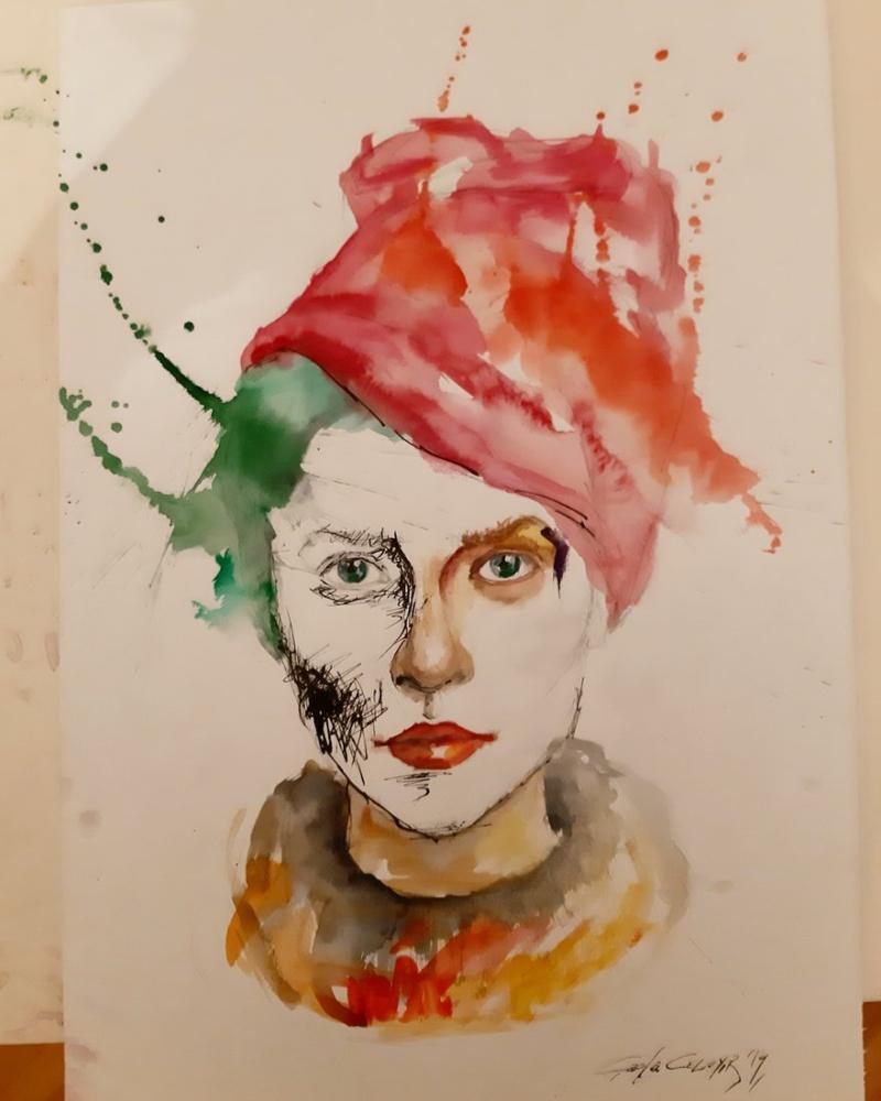 Unnamed Portrait, Original Paintings, , kanvas tablo, canvas print sales