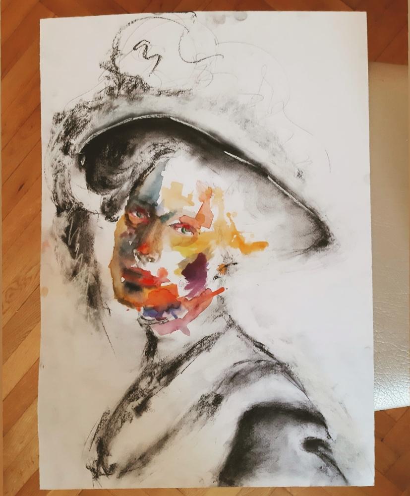 Unnamed Portrait 4, Original Paintings, , kanvas tablo, canvas print sales