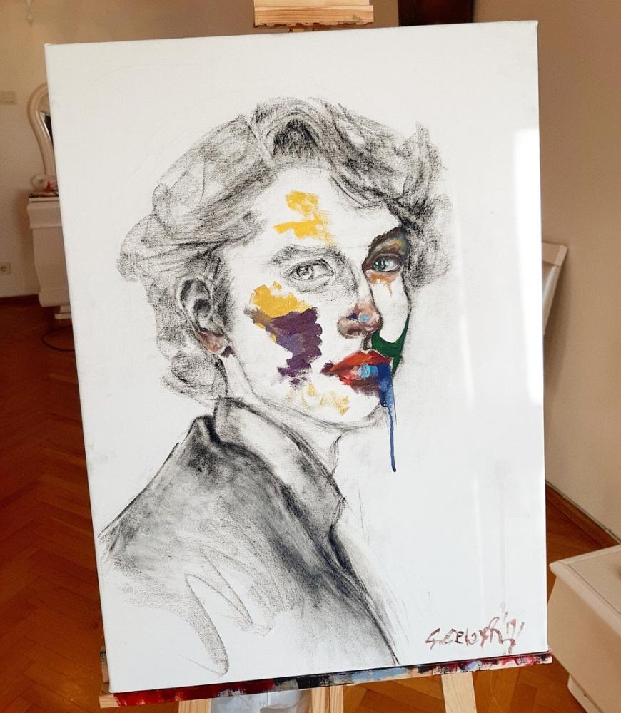 İsimsiz portre 3, Orijinal Tablolar, , kanvas tablo, canvas print sales