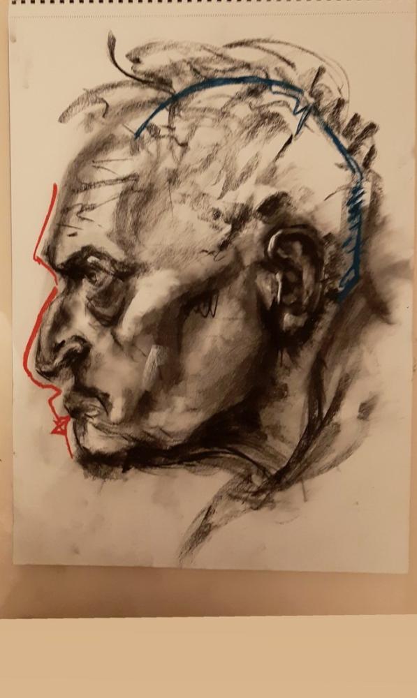 Unnamed Portrait 5, Original Paintings, , kanvas tablo, canvas print sales