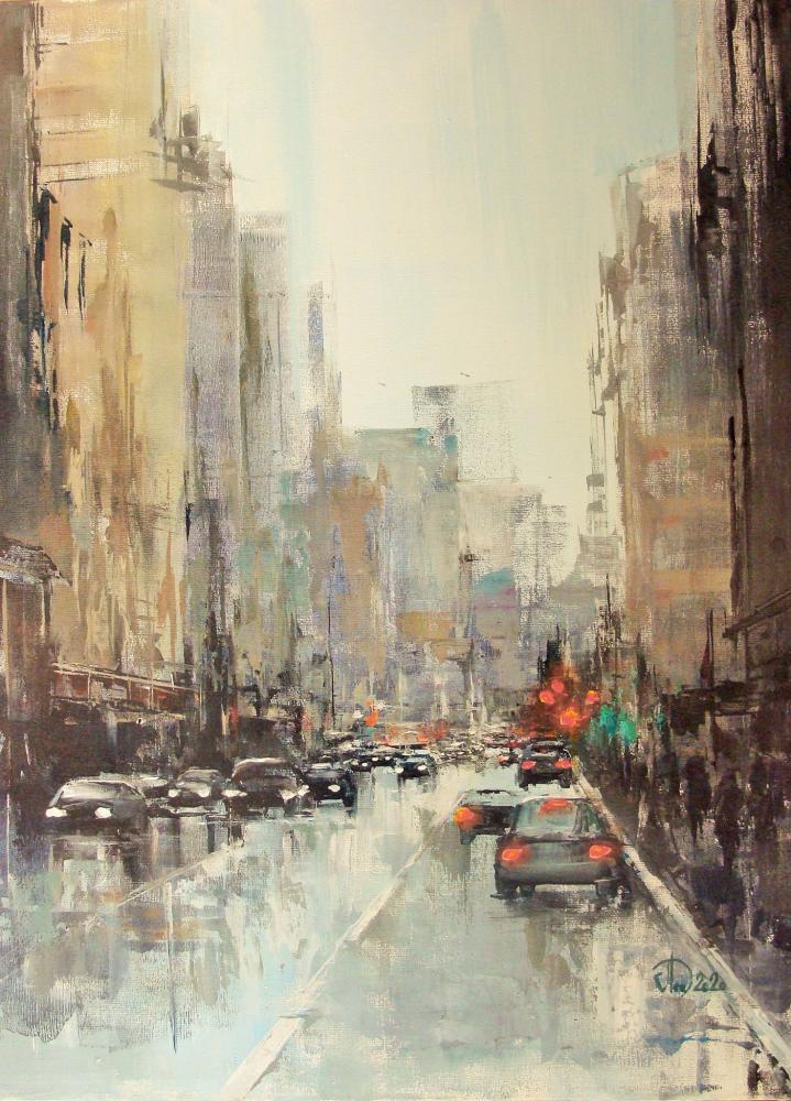 City Avenue, Orijinal Tablolar, , kanvas tablo, canvas print sales