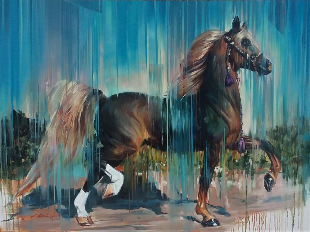 Noble Arabian Horse, Original Paintings,