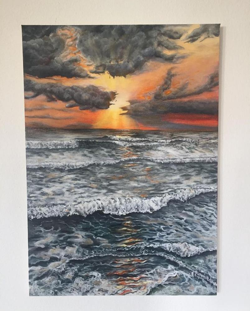 Evening, Original Paintings,