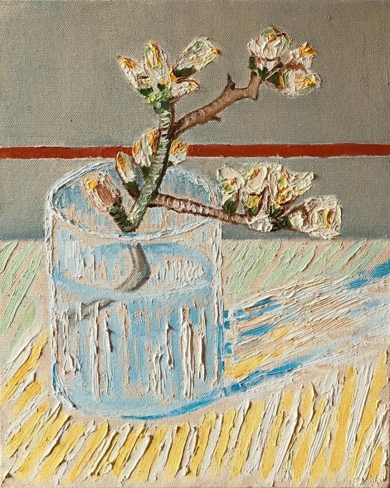 Badem Çiçeği, Reprodüksiyon Tablo,