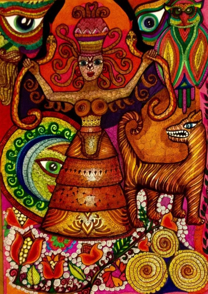 Kibele, Original Paintings, Ayşe Eser Şahin, kanvas tablo, canvas print sales