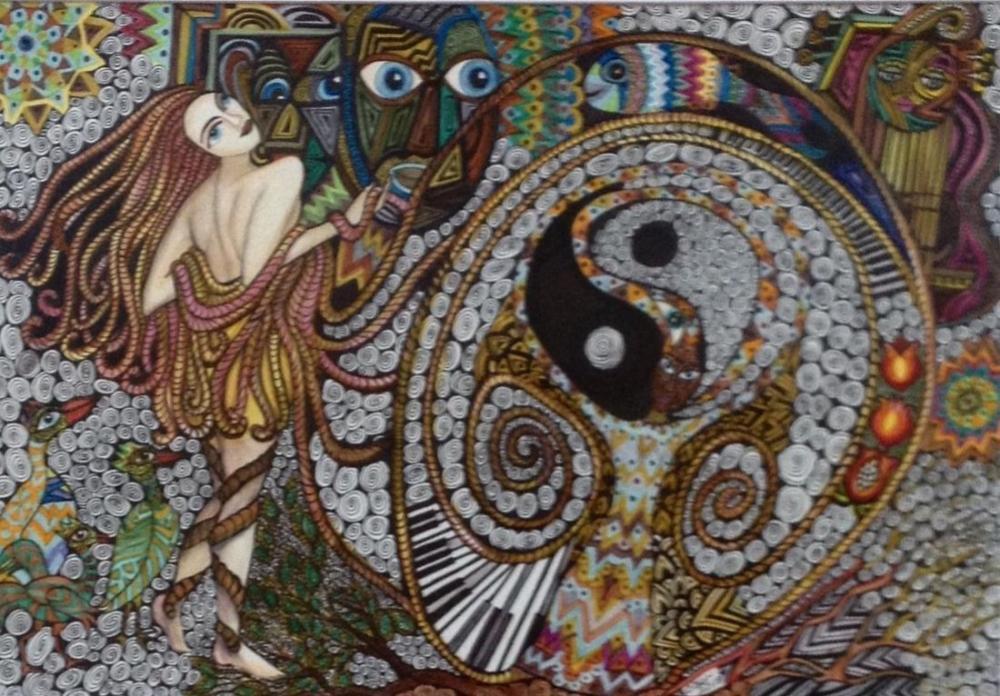 Ying Yang, Orijinal Tablolar, Ayşe Eser Şahin, kanvas tablo, canvas print sales