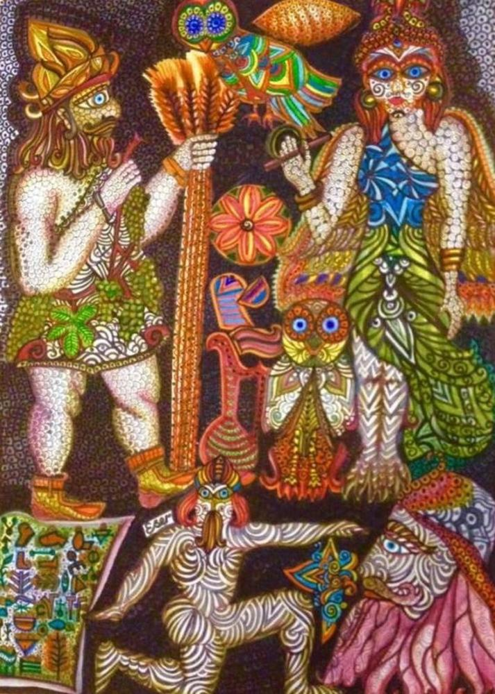 Sümerliler ve Kibele, Original Paintings, Ayşe Eser Şahin, kanvas tablo, canvas print sales