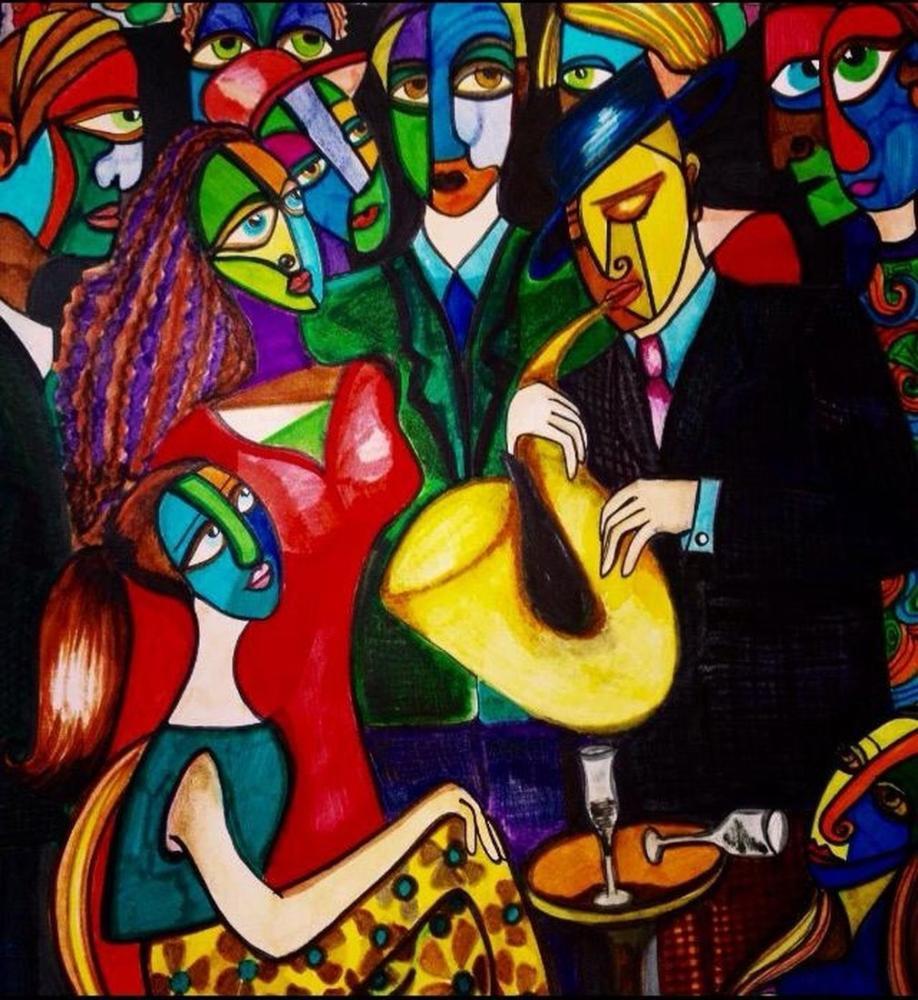 Masquerade, Original Paintings, Ayşe Eser Şahin, kanvas tablo, canvas print sales