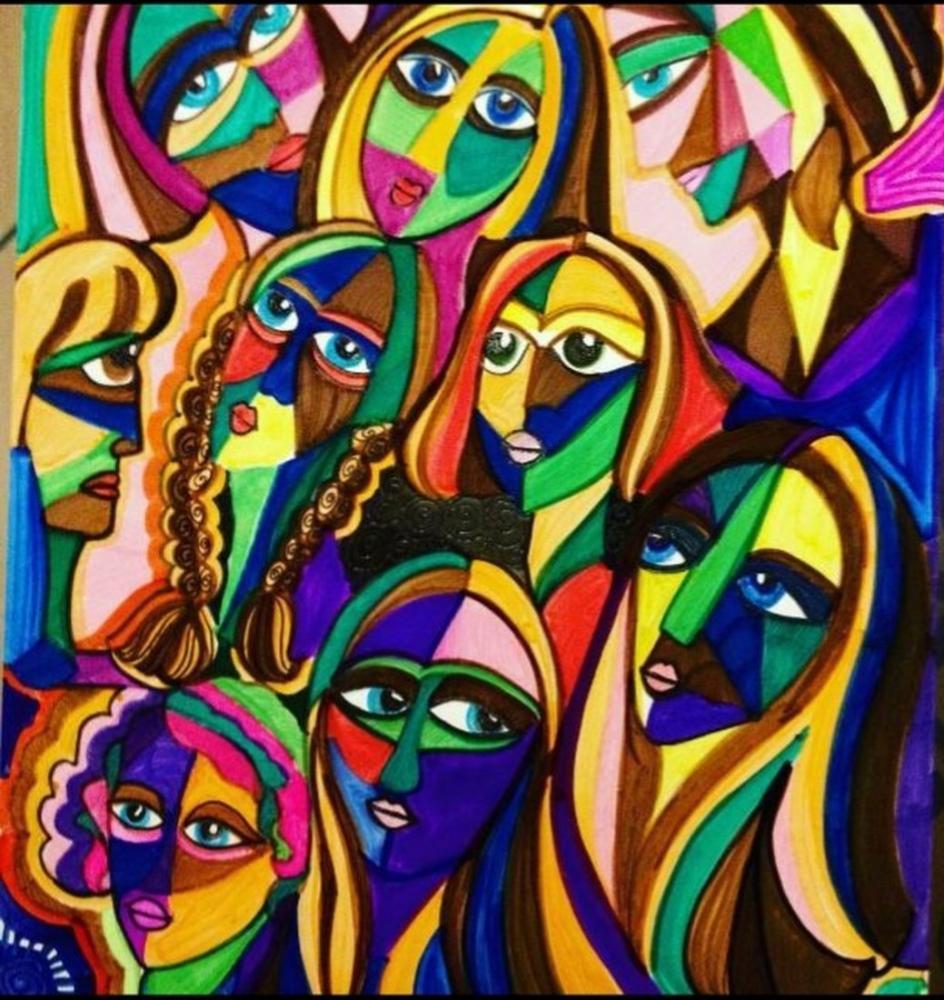 Name of Woman, Original Paintings, Ayşe Eser Şahin, kanvas tablo, canvas print sales