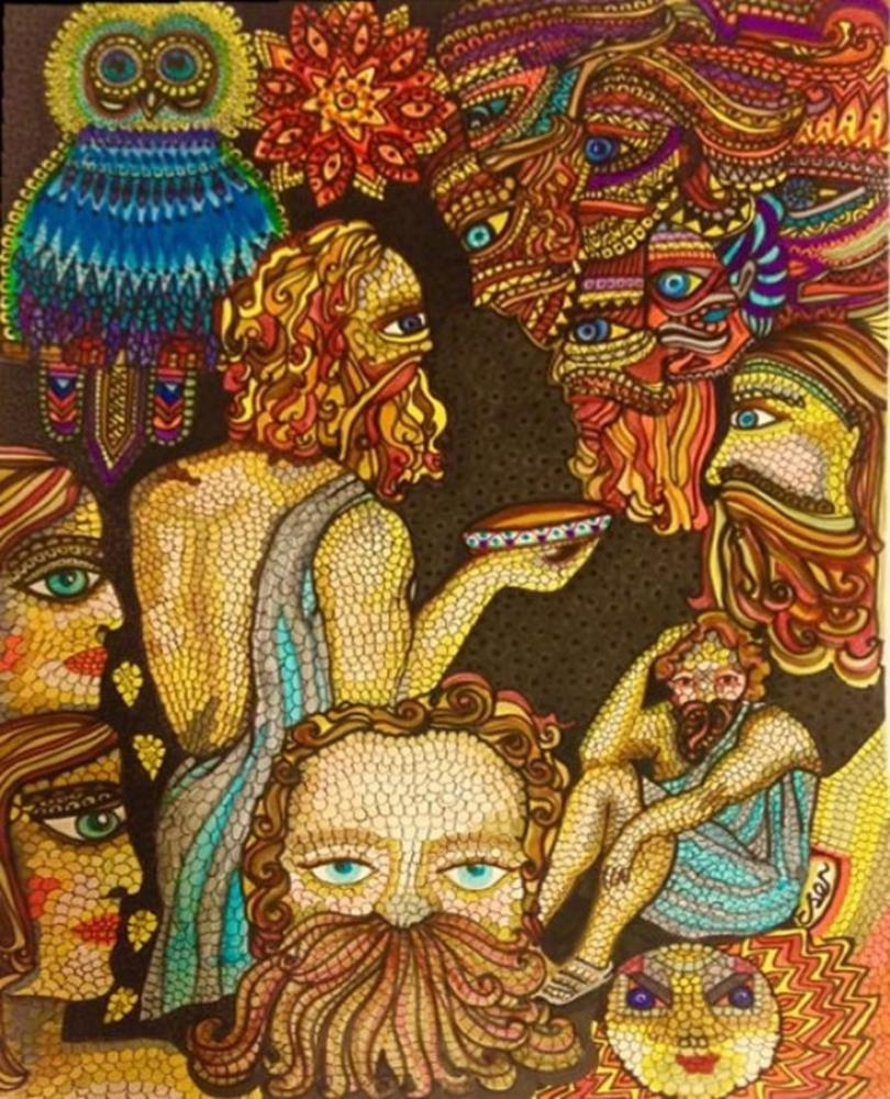 Socrates  Death, Original Paintings, Ayşe Eser Şahin, kanvas tablo, canvas print sales