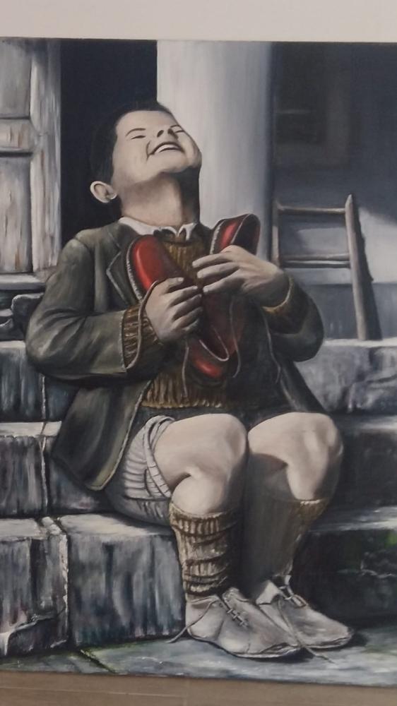 2.Dünya Savaşı Mutlu Çocuk, Reprodüksiyon Tablo,