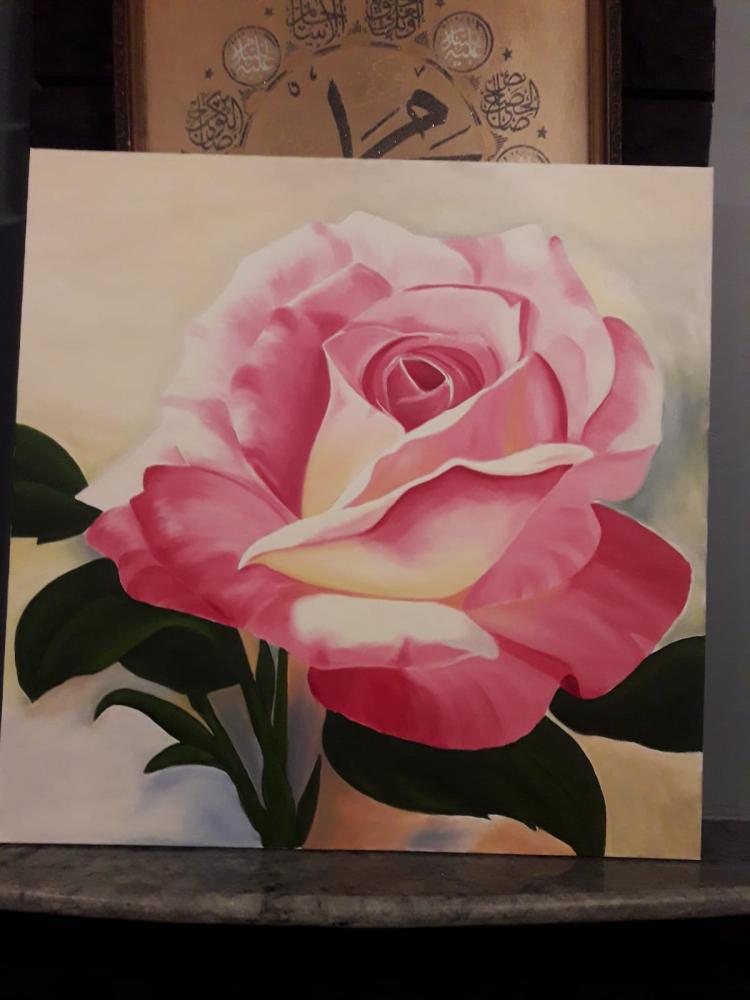 A Pink Rose 2, Original Paintings,