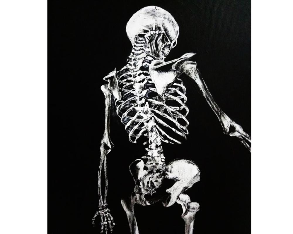 Skinless woman skeleton, Original Paintings, , kanvas tablo, canvas print sales