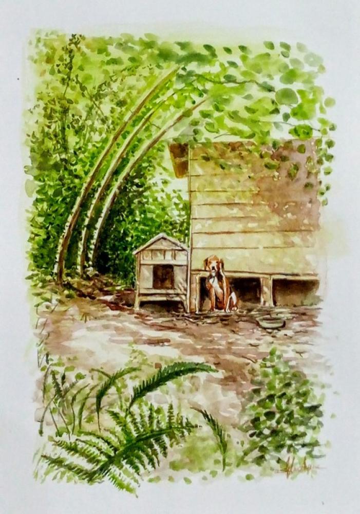 Avcı Köpeği, Orijinal Tablolar, , kanvas tablo, canvas print sales