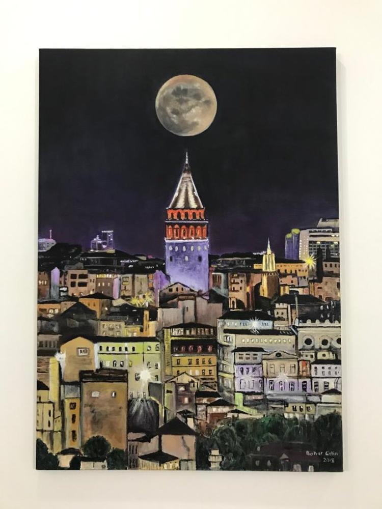 Galata Tower, Original Paintings, , kanvas tablo, canvas print sales