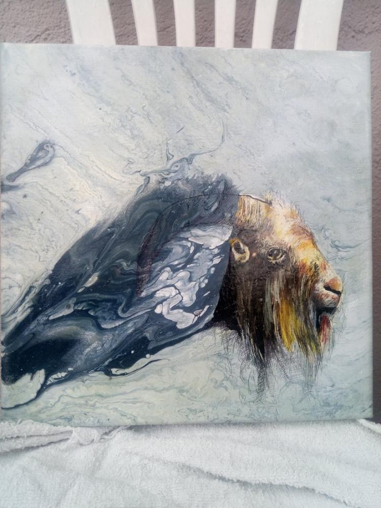 Dream of the goat, Original Paintings, , kanvas tablo, canvas print sales