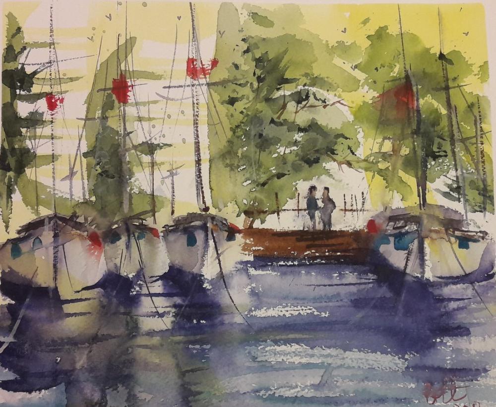 Harbour, Reproduction Paintings, , kanvas tablo, canvas print sales