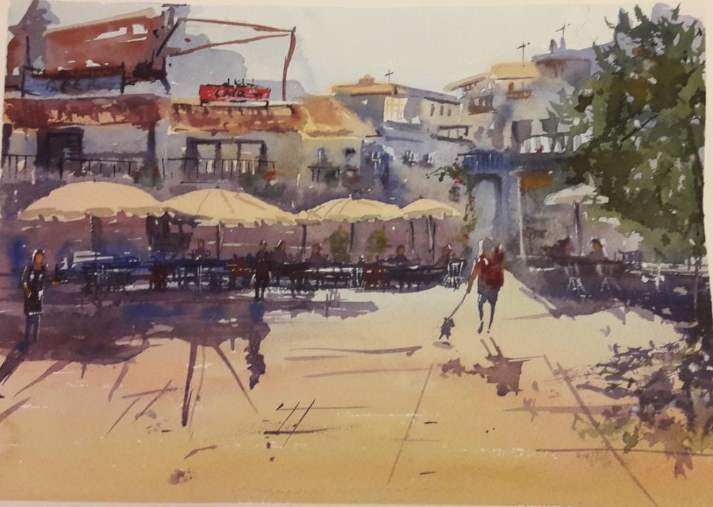 Cafe, Original Paintings, , kanvas tablo, canvas print sales