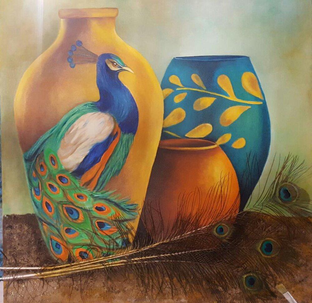 Tavuskuşu Küpleri, Orijinal Tablolar, , kanvas tablo, canvas print sales
