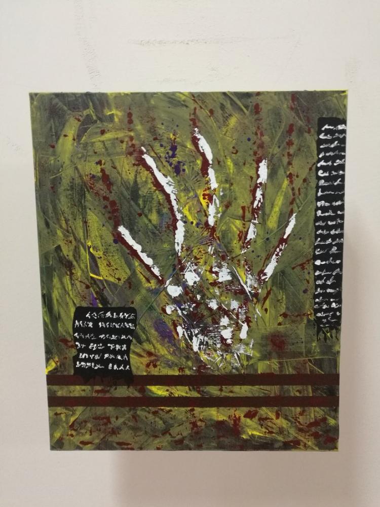 Bone Hand, Original Paintings, , kanvas tablo, canvas print sales