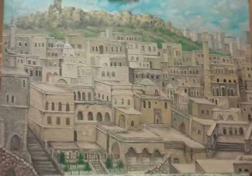 MARDİN, Original Paintings, Cahit Dündar, kanvas tablo, canvas print sales
