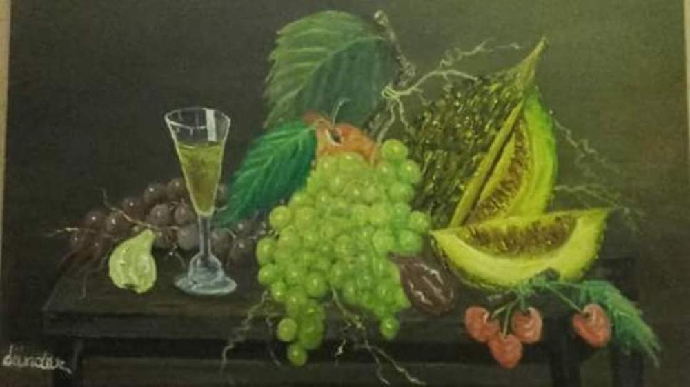 Fruit Cocktail, Original Paintings, Cahit Dündar, kanvas tablo, canvas print sales
