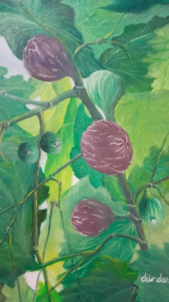 Fig - Oil Painting on Canvas, Original Paintings, Cahit Dündar, kanvas tablo, canvas print sales
