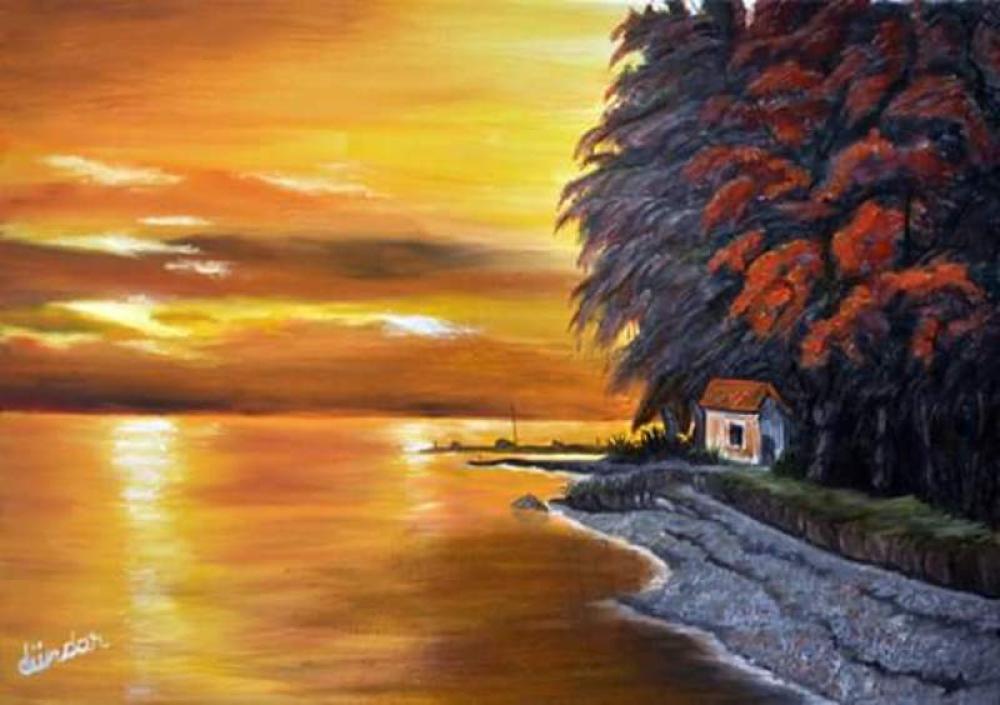 Sunset, Original Paintings, Cahit Dündar, kanvas tablo, canvas print sales