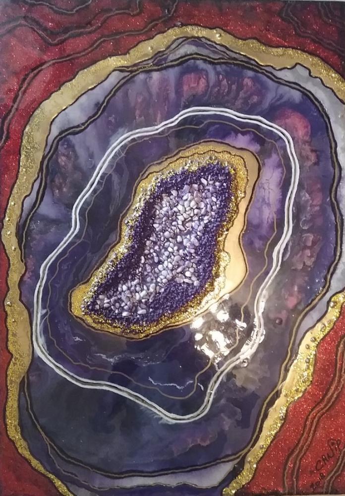 Geode Ametist, Orijinal Tablolar, , kanvas tablo, canvas print sales