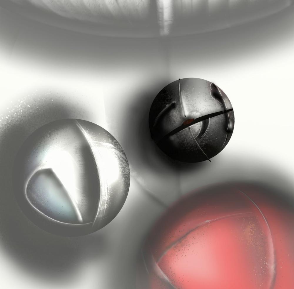 Balls in space 1, Digital, , kanvas tablo, canvas print sales