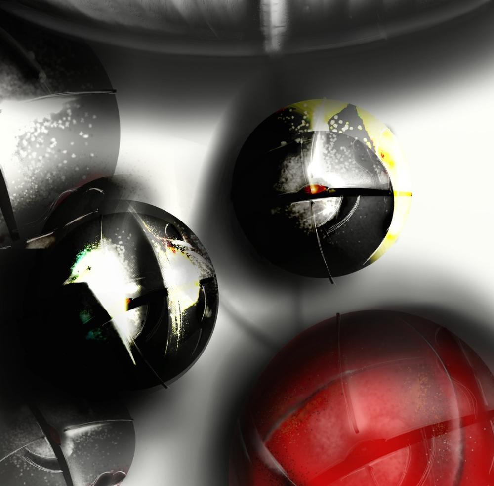 Balls in space 3, Digital, , kanvas tablo, canvas print sales