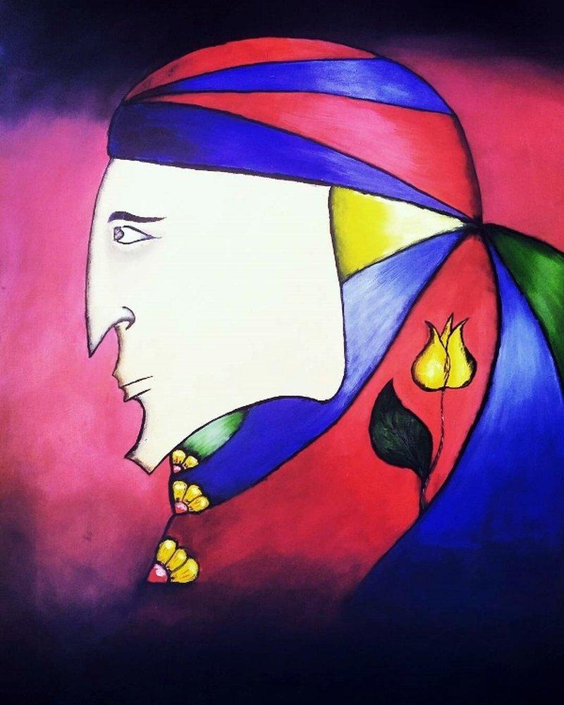 Woman of Bagdat, Original Paintings,