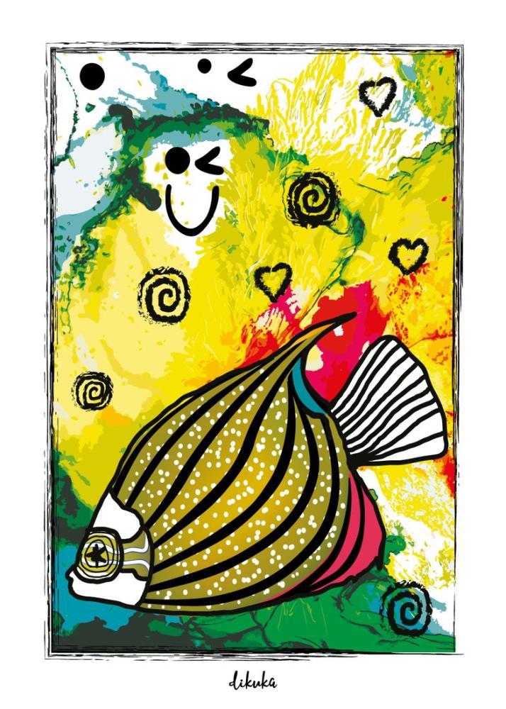 Blonde Angel Fish, Digital, , kanvas tablo, canvas print sales