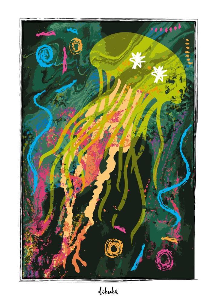 Pelagia Jellyfish, Digital, , kanvas tablo, canvas print sales
