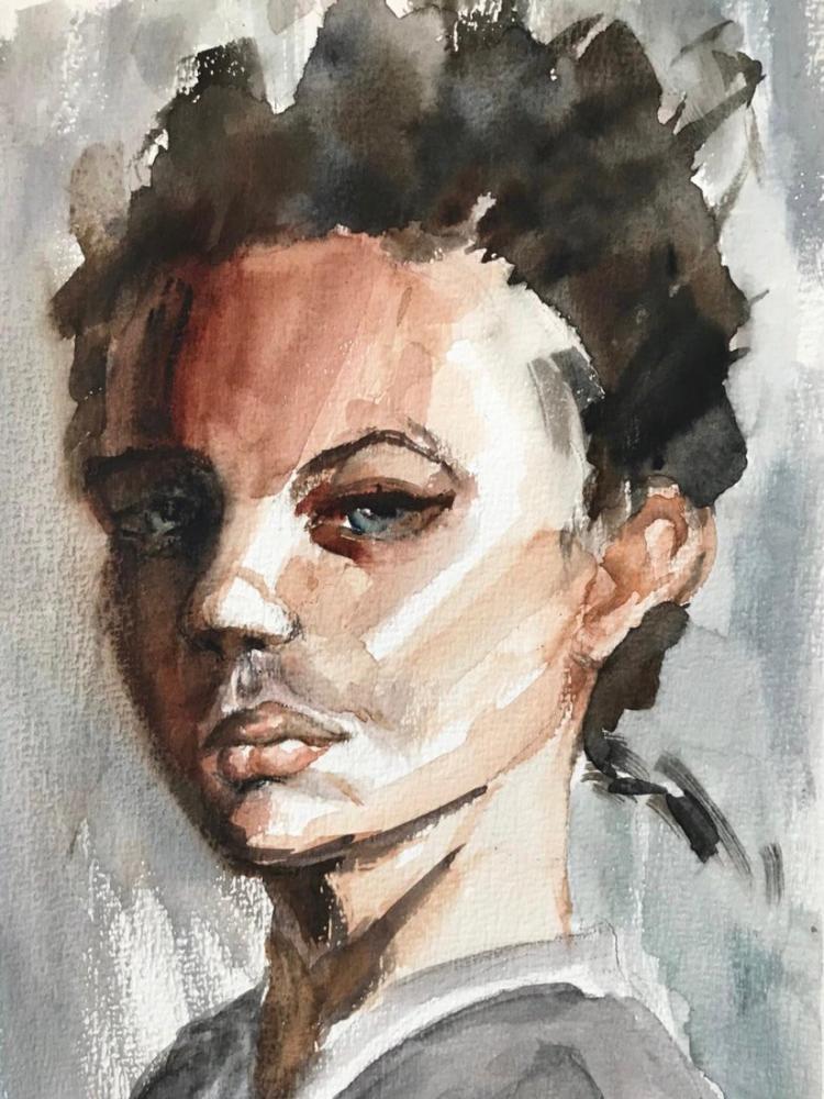 A Portrait Study, Original Paintings,