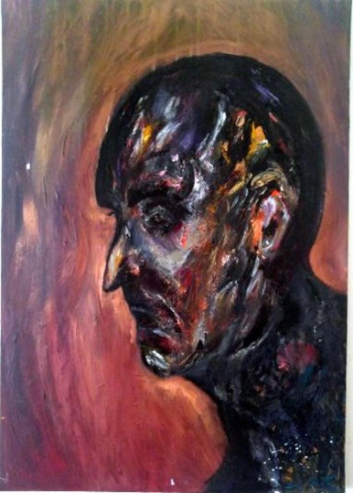Enkaz - Yağlıboya tablo, Orijinal Tablolar, , kanvas tablo, canvas print sales