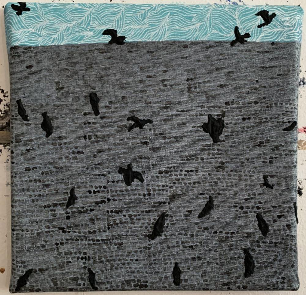 Birdy Sidewalk, Original Paintings,