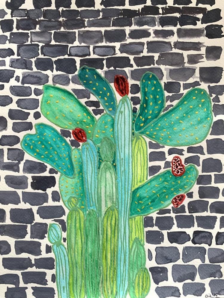 Kaktüs Duvar, Orijinal Tablolar, , kanvas tablo, canvas print sales