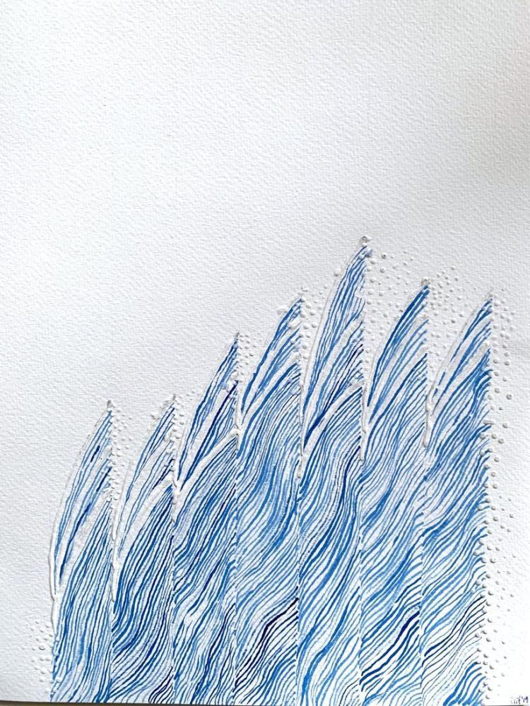 Minimal Dalga 1, Orijinal Tablolar, , kanvas tablo, canvas print sales