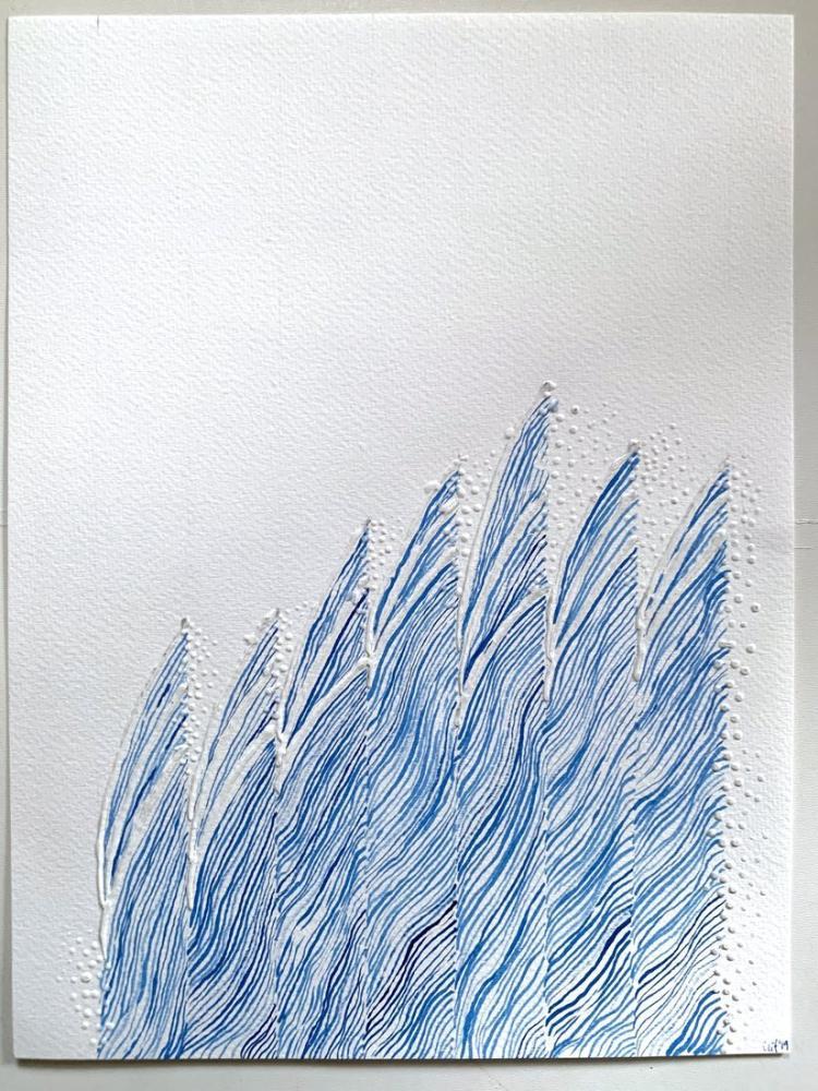 Minimal Wave 2, Original Paintings, , kanvas tablo, canvas print sales