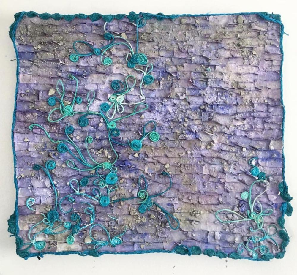 Purple Brick Wall, Original Paintings, , kanvas tablo, canvas print sales
