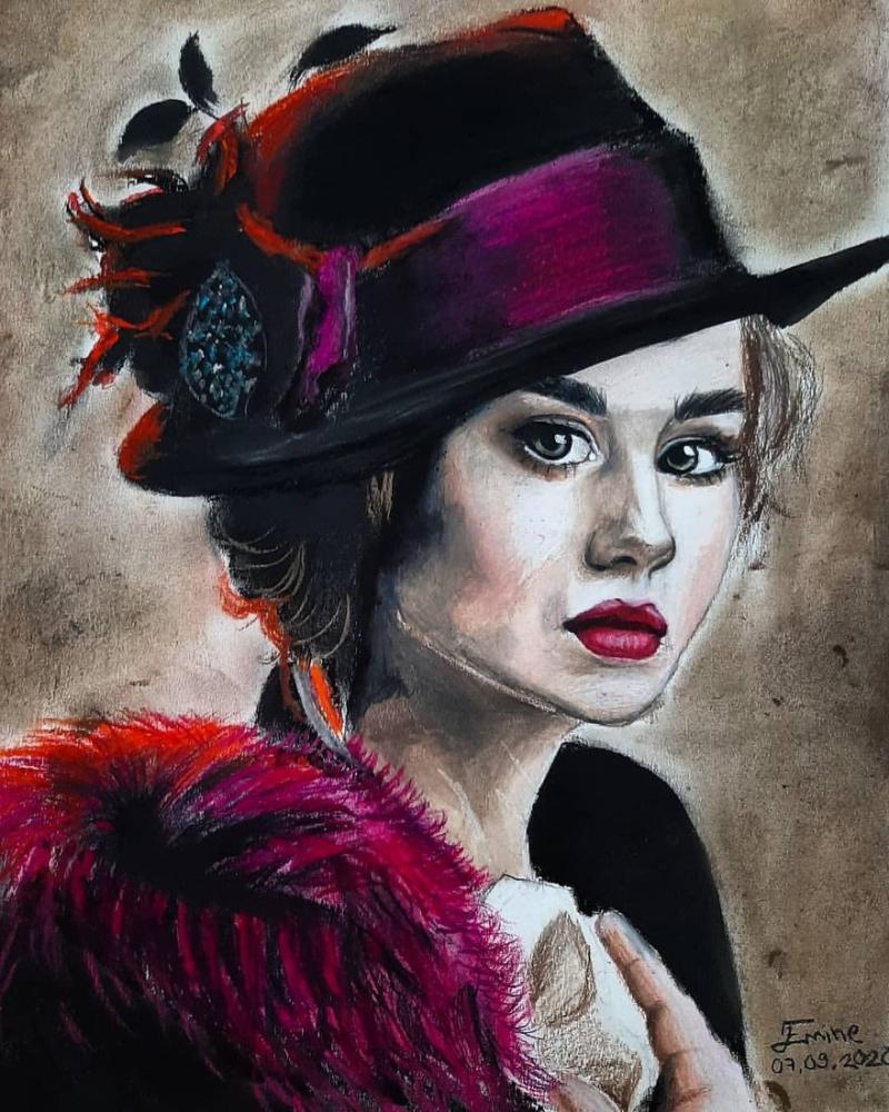French Women, Original Paintings, , kanvas tablo, canvas print sales