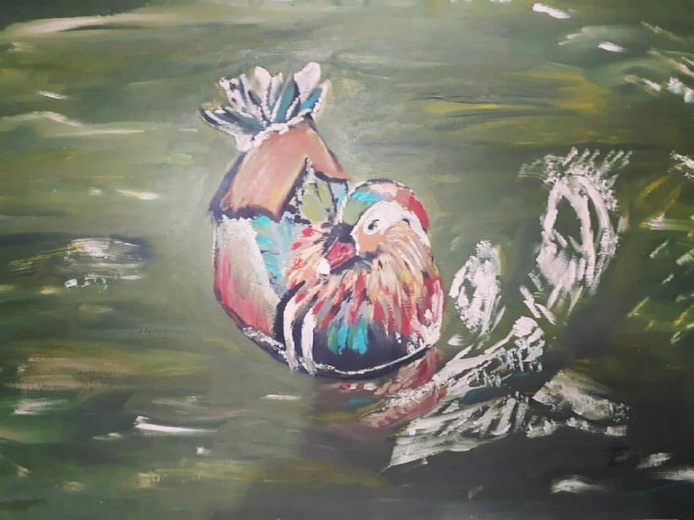 A Bird, Original Paintings, , kanvas tablo, canvas print sales