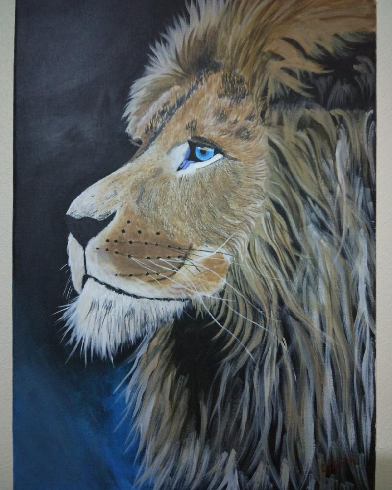 Aslan, Orijinal Tablolar, , kanvas tablo, canvas print sales