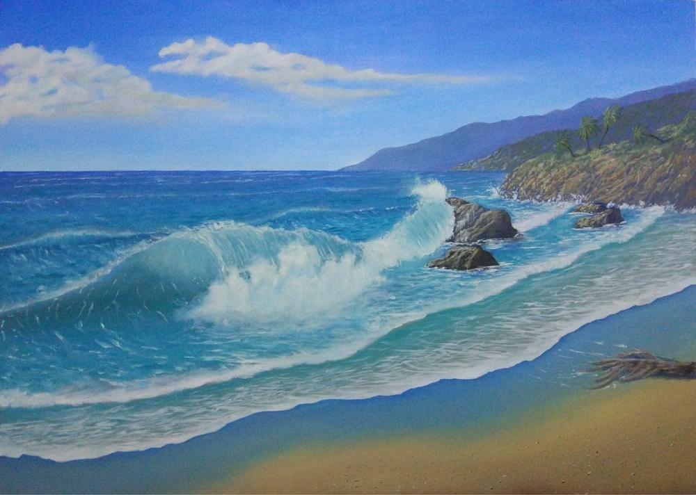 Tropical Beach, Original Paintings, , kanvas tablo, canvas print sales