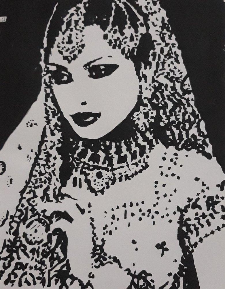 Indian Girl, Original Paintings, , kanvas tablo, canvas print sales